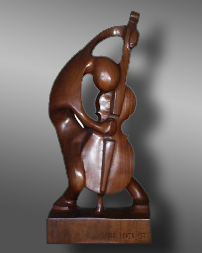 Bassist - by Paul Levin, 1957.  mahogany